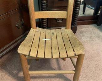#6 kid wood chair   $25.00