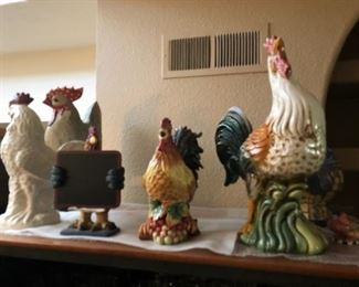Partial Rooster Collection