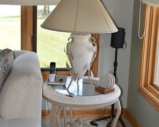 End Table and Lamp