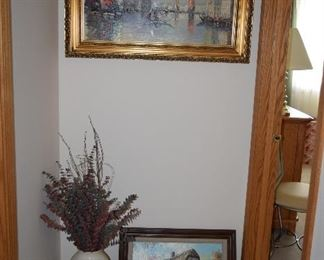 Wall Art and Vase