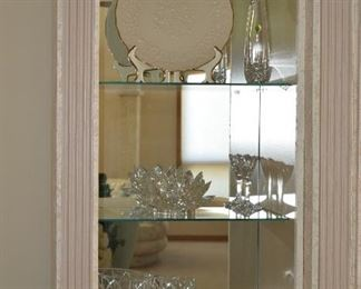 Glass Cabinet and Glass Bowls