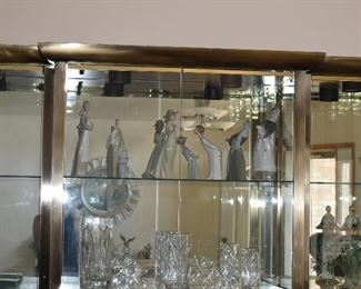 Glass Cabinet and Figurines