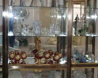 Glass Cabinet with China and Glassware