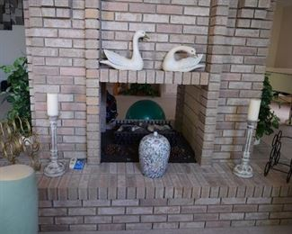 Mantel Decor and Candles