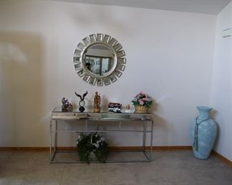 Side Table and Mirror