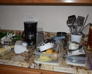 Utensils and Coffee Maker