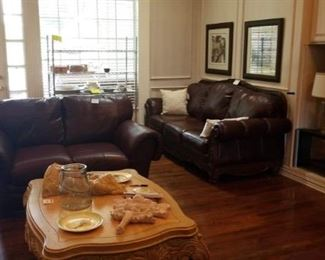 Leather Sofas and Loveseat