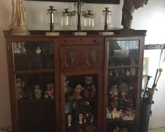 Lovely oak display cabinet