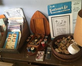 Vintage sewing and craft items