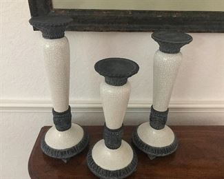 Fitz and Floyd candle stands set of 3