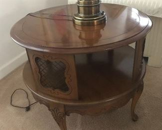 Round lamp table - has 2 matching lamp tables - will be sold separately.