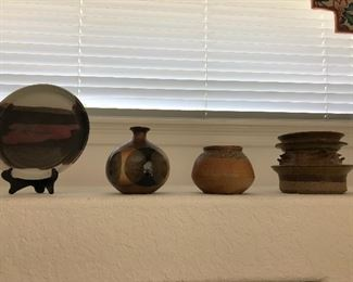 Pottery Collection - several pieces of Raku