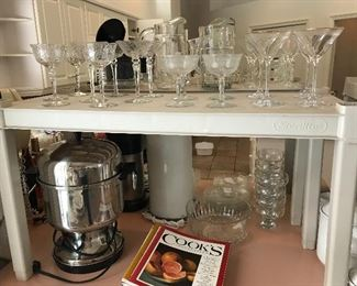 Glassware and 30 cup coffee maker/urn