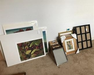 A TINY bit of the art and frames at this sale.  Client is an artist and we have originals, Artists proofs and prints galore!!!