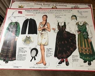 male and Female paper dolls from Norway