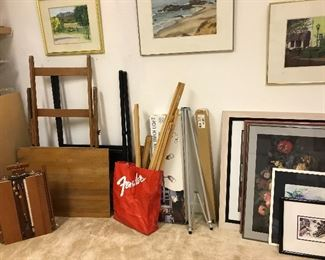Easels, including  French Easel Sketch Box.