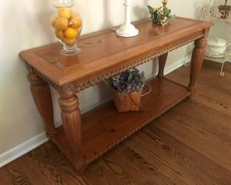 carved sofa/entry table