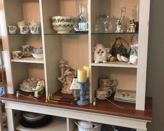 collectibles!  (display hutch for sale also)
