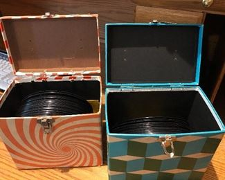 Vintage 45 records & cases