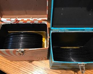Vintage 45's records & cases