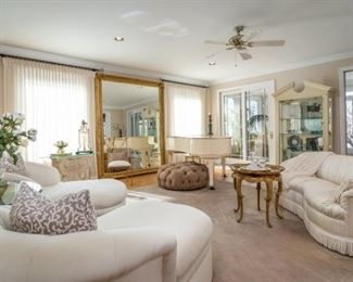 Baby Grand Piano, chaise lounges, accessories