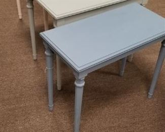 BEAUTIFULLY PAINTED NESTING TABLES
