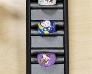 SET OF 5 HELLO KITTY RINGS