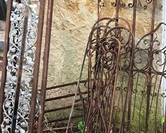 Lots of old metal fencing and gates