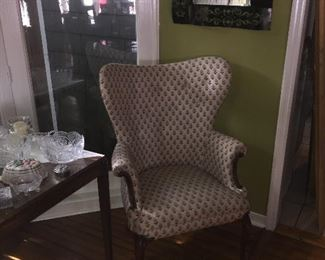 Pair of butterfly wing chairs