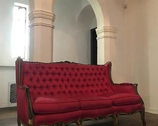 French Satin Couch