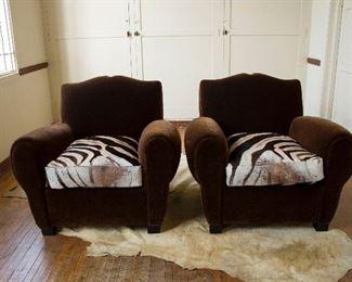 Zebra Arm Chairs