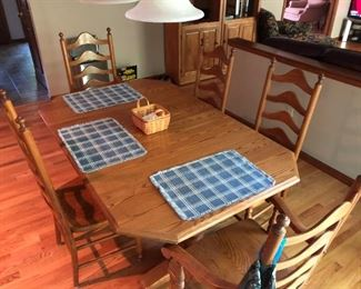 Kitchen table with hidden leaf