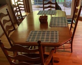 S. Bent table and chairs