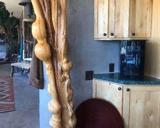 Unique wood decor.  $400