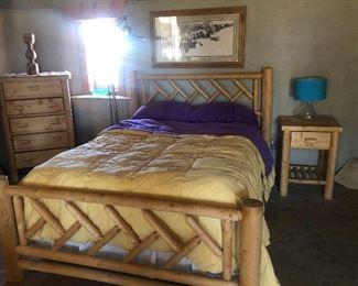 Rustic solid pine bedroom set. $250