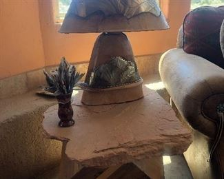 Table is sold.  Lamp is $100