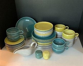 Vintage Russel Wright dishes, 56 pcs