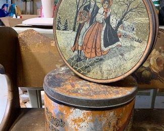 Antique Christmas Tins