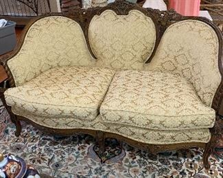 Vintage French Carved Settee