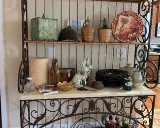 Wrought Iron Bakers Rack 6x6