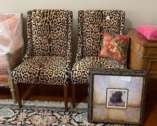 Newly upholstered Vintage Chairs