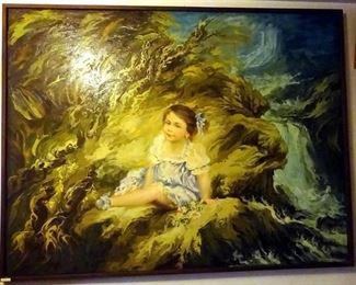 Huge vintage oil  painting by deceased Italian artist: Adria Santunione
