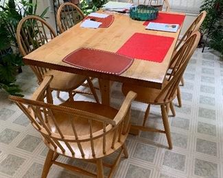 bakers rack and block wood kitchen table