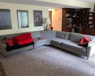 Mid century sectional sofa