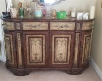 "Credenza Dark wood stunning 60"" across and 40"" tall"