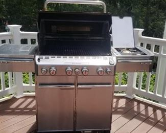 weber grill with side burners