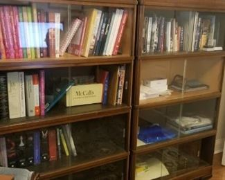"""stackable shelving glass all of them together 59"""" tall  39"""" across and 12"""" wide"""