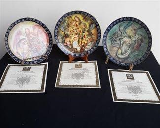 Konigszelt Bayern Collectible Angel Plates with Certificates