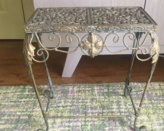 Iron and Brass footstool circa 1900