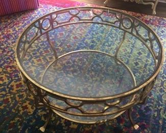 Iron / Glass Coffee Table